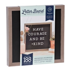Black Letter Peg Message Board