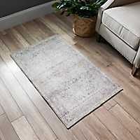 Distressed Taupe Accent Rug, 2x4