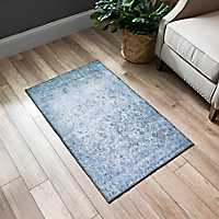 Distressed Slate Print Accent Rug, 2x4