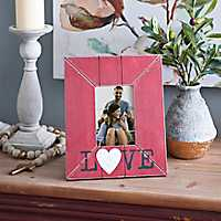 Valentine's Day Red Love Picture Frame, 4x6