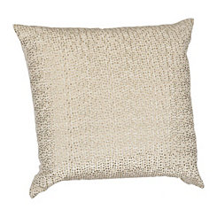 Gold Dot Embroidered Pillow