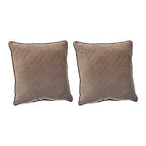 Cobblestone Quilted Velvet Pillows, Set of 2