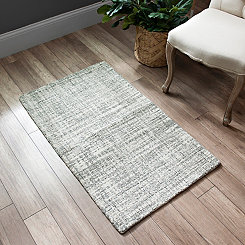 Gray Brock Wool Accent Rug, 2x4
