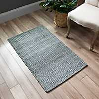 Dark Gray Brock Wool Accent Rug, 2x4