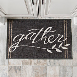 Black Gather Accent Rug