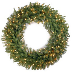 Pre-Lit Norwood Fir Wreath, 48 in.