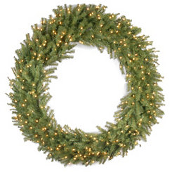 Pre-Lit Norwood Fir Wreath, 60 in.