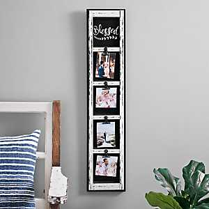 4-Opening Distressed Blessed Clip Collage Frame