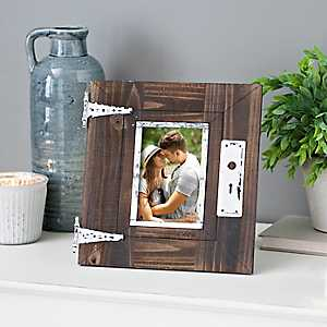 Distressed Barnwood Door Picture Frame, 4x6