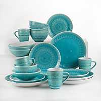 Turquoise Floral Fez 20-pc. Dinnerware Set