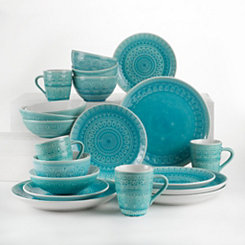 Turquoise Floral Fez 20-pc. Dinnerware Set