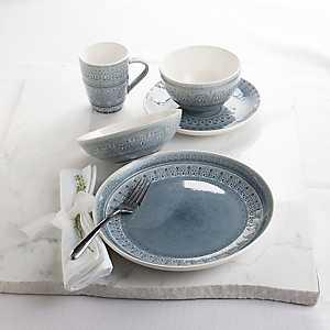 Gray Floral Fez 20-pc. Dinnerware Set