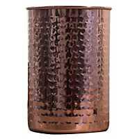 Hammered Antique Copper Utensil Holder