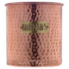 Hammered Copper Utensil Holder, 6 in.