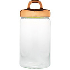 Copper Loop Glass Canister