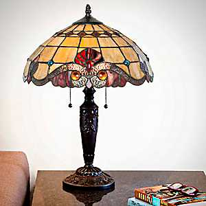 Vivaldi Red Stained Glass Table Lamp
