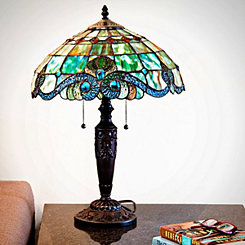 Vivienne Baroque Green Stained Glass Table Lamp