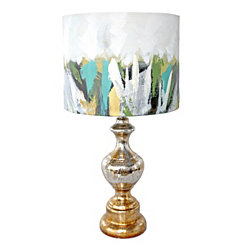 Painted Brushstroke Mercury Glass Table Lamp