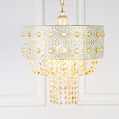Champagne Jeweled Blossoms Pendant Lamp
