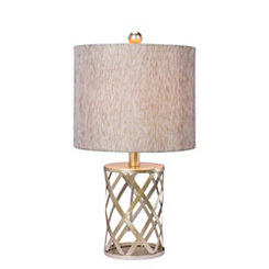Antique Gold Open Metal Table Lamp