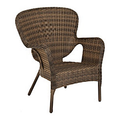 Hatteras Peppercorn Wicker Chair