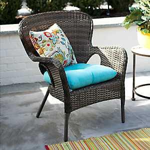 Hatteras Peppercorn Wicker Chair