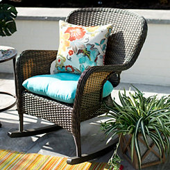 Peppercorn Hatteras Wicker Rocker