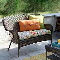 Hatteras Peppercorn Wicker Settee