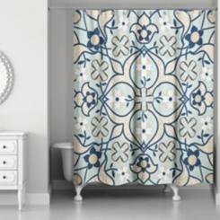 Mint Tile Shower Curtain