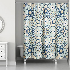 Mint Tile Shower Curtain