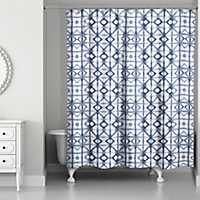 Blue Shibori Shower Curtain