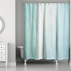 Turquoise Abstract Ocean Shower Curtain