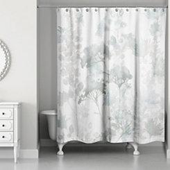 Soft Wildflowers Shower Curtain