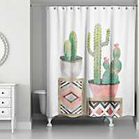 Cactus Collection Shower Curtain