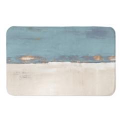 Blue and Cream Horizon Bath Mat