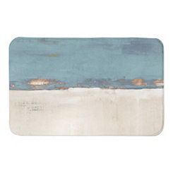 Blue and Cream Horizon Bath Mat