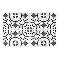 Geometric Tile Bath Mat