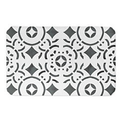 Geometric Tile Bath Mat