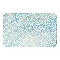 Mint Abstract Trees Bath Mat
