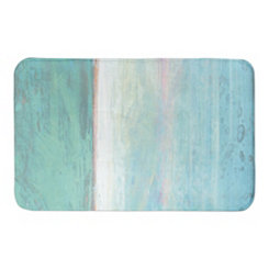 Turquoise Abstract Ocean Bath Mat