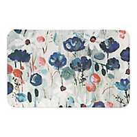 Blue Flower Explosion Bath Mat