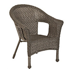 Avondale Gray Wicker Chair