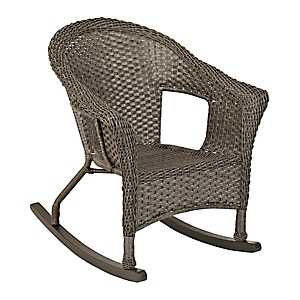 Avondale Gray Wicker Rocker