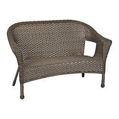 Avondale Gray Wicker Settee