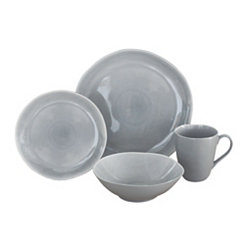 Gray Current 16-pc. Dinnerware Set