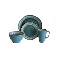 Blue Shibori 16-pc. Dinnerware Set