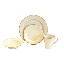 Ivory Canvas 16-pc. Dinnerware Set