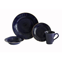 Indigo Canvas 16-pc. Dinnerware Set