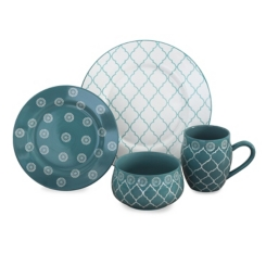 Turquoise Moroccan 16-pc. Dinnerware Set