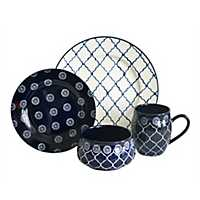 Navy Moroccan 16-pc. Dinnerware Set